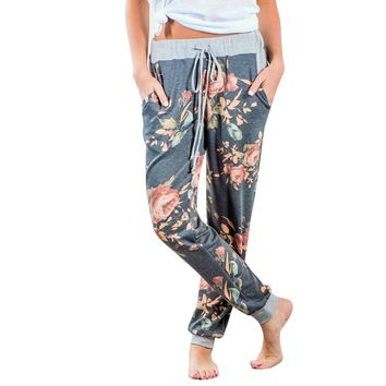 Loose Floral Sweats