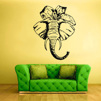 rvz1596 Wall Vinyl Sticker Bedroom Decal Nursery Kids Baby Elephant Bow