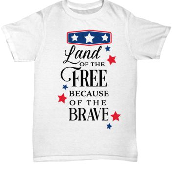 Cutie Pie Tees Cute Patriotic Shirt for Men Women Land of the Free