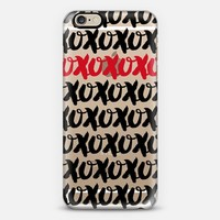 xoxo red accent with black iPhone 6 case by Noonday Design | Casetify