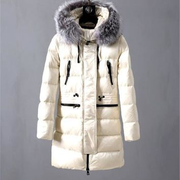 Moncler winter plus velvet ladies long down jacket 0530020A2JS