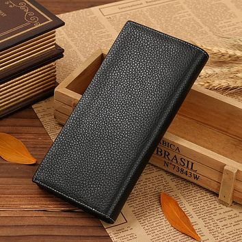 Men Wallet Genuine Leather Long clutch wallets for men Cowhide Purse Slim Fashion Male Wallets