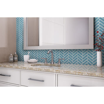 Shop Elida Ceramica Chelsea Sea Glazed Ceramic Mosaic Scale Indoor/Outdoor Wall Tile (Common: 12-in x 12-in; Actual: 11-in x 11-in) at Lowes.com