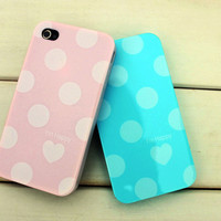 Apple iphone4G Dot and Hearts New Shell Case