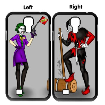 joker and harley quinn Z0007 Couple Samsung Galaxy S3 S4 S5 (Mini) S6 S6 Edge,Note 2 3 4, HTC One S X M7 M8 M9 Couple Cases