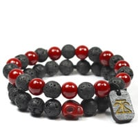 2 Pack Red Lava Rock Set