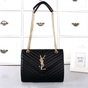 YSL Women Shopping Bag Leather Chain Satchel Shoulder Bag Crossbody