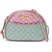 Gucci - Quilted metallic leather shoulder bag