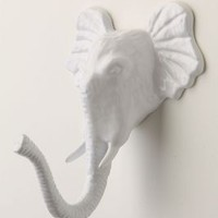 Encased Elephant Hook by Anthropologie in Nude Size: One Size Hooks