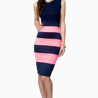 Sleeveless Colorblock Midi Dress