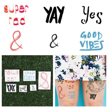 Just My Type - Temporary Tattoo (Set of 12)