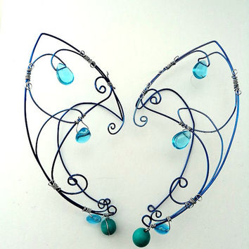 Elven Elf Ear Cuff -Customizable 11 colours Fantasy Jewelry -1 Non Pierced. Fairy ear wraps-