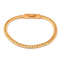 5mm 18K Gold Moon Cut Cuban Bracelet