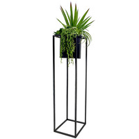 51 H SUCCULENT IN METAL STAND