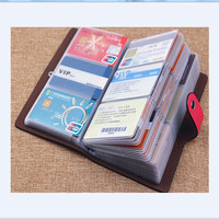 New Business Credit Card Holder For Women Men Bank ID Card Bus Card Holder Big Capacity Cards Holder Wallet Organizer Carteras