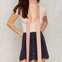 Abbot Skinny Scarf - Pink
