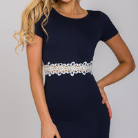 RIDIN SOLO DRESS IN NAVY - Popcherry