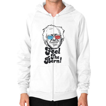Bernie Sanders Pop Art Portrait  Zip Hoodie (on man)
