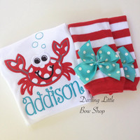 Summer Crab outfit - Crabby But Cute -  bodysuit and leg warmers