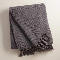 Charcoal Chunky Chenille Throw