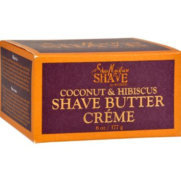 Shea Moisture Shave Cream For Women Coconut And Hibiscus - 6 Oz