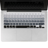 "Kuzy - Gray Ombre Colors Keyboard Cover Silicone Skin for MacBook Pro 13"" 15""..."