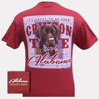 Alabama Crimson Roll Tide Bama Tailgate Dog Party Unisex Bright T-Shirt
