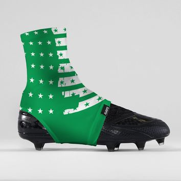 Disrupted USA Flag Green Spats / Cleat Covers