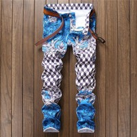 Casual Print Korean Stylish Club Pants [10766090115]