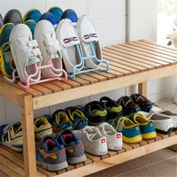 2PCs Fashion Shoes Rack Shoes Storage Creative Cabinet Shoe Rack Shoe Living Room Bedroom Shoebox  Home Storage