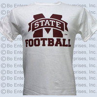 MSU Mississippi State Bulldogs State Football Unisex Bright T Shirt