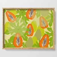 Papaya Storm Serving Tray by mirimo