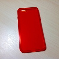For Apple iphone 6 (4.7 inches) Transparent TPU Soft Silicone case - Red