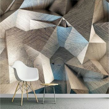 Home Improvement 3D Wallpaper for Wall 3d Decorative Wall Paper Background Painting Retro abstract geometry Wall Mural Wallpaper