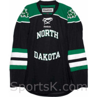 North Dakota Reebok Premier Hockey Black Jersey (Holiday Clearance)