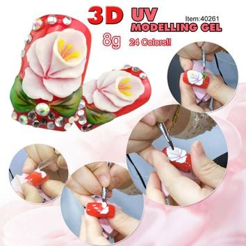 #40261 Hot Nail Builder 3D Modeling Gel CANNI 24 Colors Sculpture Gel UV Gel Nail