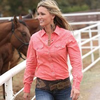 Teskey's Saddle Shop: Women's Pink Long Sleeve Cruel Girl Shirt
