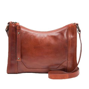 Frye Melissa Zip Crossbody Bag Red Clay DB770