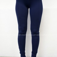 Fit Fam Yoga Pants | Navy Stripe