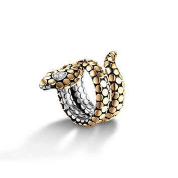 John Hardy dot collection cobra coil ring