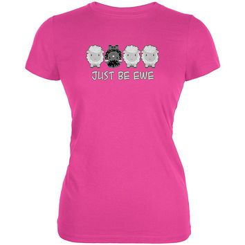Just Be You Ewe Black Sheep Juniors Soft T Shirt
