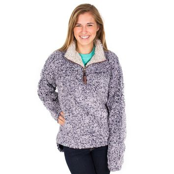 PRE-ORDER Frosty Tipped Pile 1/2 Zip Pullover in Vintage Blue by True Grit