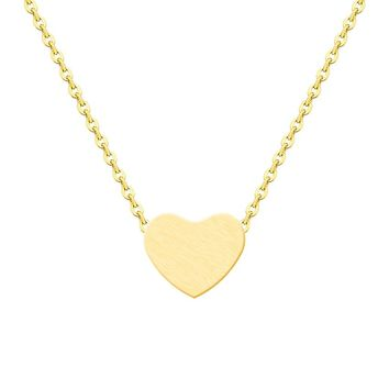 10PCS Ethnic Tiny Heart Necklace Gold Color Choker Fashion Women Lovely Valentine Gift Statement Romantic Peach Heart Jewelry