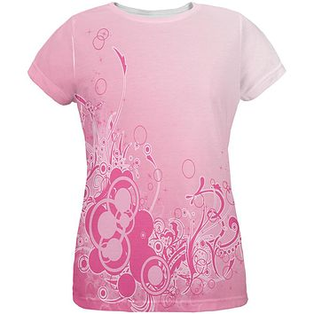 Pink Ombre Day Dream All Over Womens T Shirt
