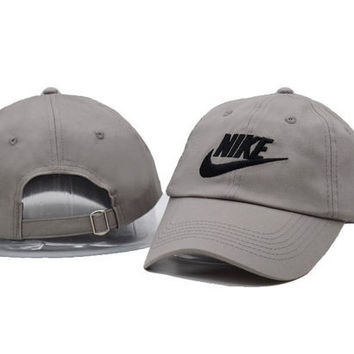Fashion Unisex Gray NIKE Embroidered Baseball Cap Hat