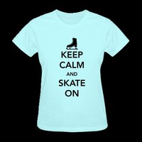 Keep Calm and Skate on Ice T-Shirt | Spreadshirt | ID: 11589758