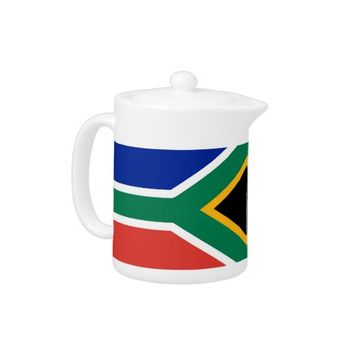 South African Flag Teapot