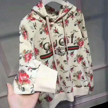 G7HX 'Gucci'' Women Pattern Print Floral Hot Hoodie Cute Sweater