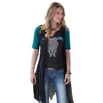 Rock and Roll Cowgirl Fall Breeze Vest