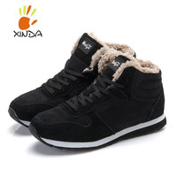 Fashion Men Women Winter Snow Boots keep Warm Boots Plush Ankle boot Snow Work Shoes Men's Women's Outdoor Snow Boots 36-47